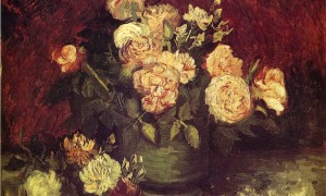 Van_Gogh_Vincent_Bowl with Peonies and Roses_1886